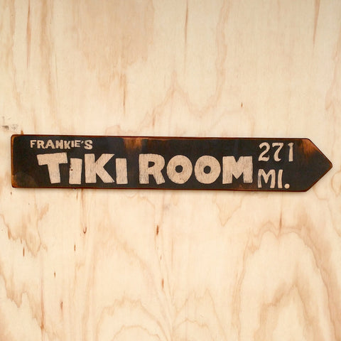 Frankie's Tiki Room Directional Arrow