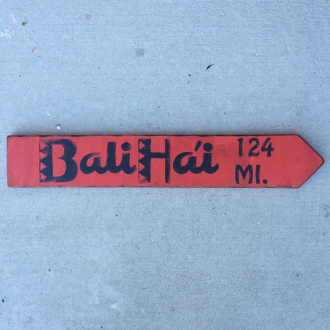 Bali Ha'i Directional Arrow
