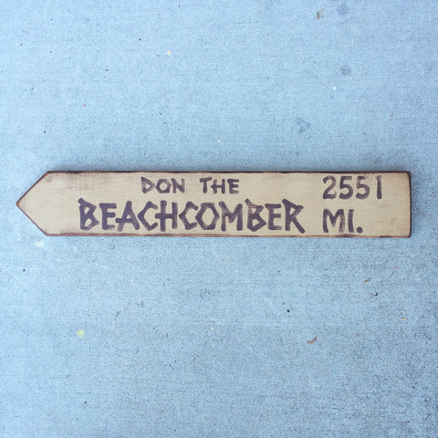 Don the Beachcomber Directional Arrow