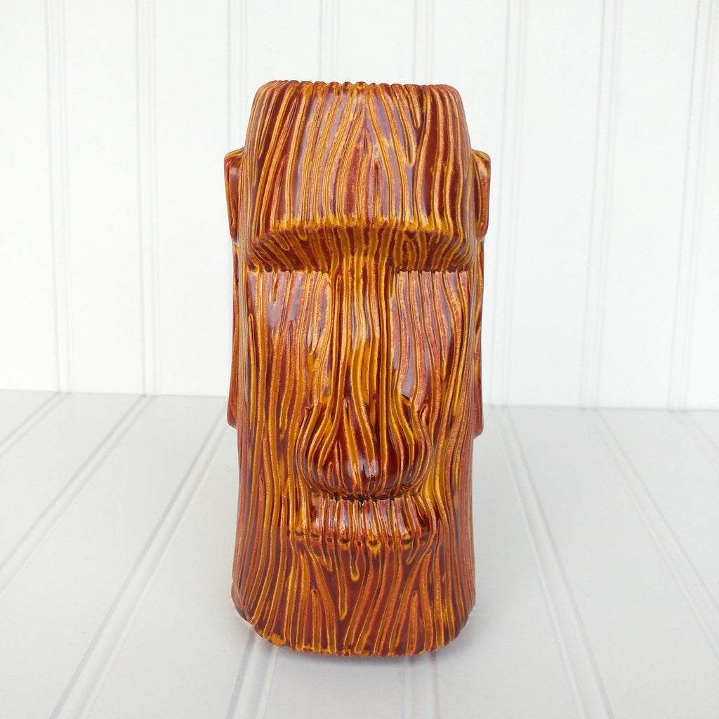 Woody Moai Tiki Mug - Burnt Yellow