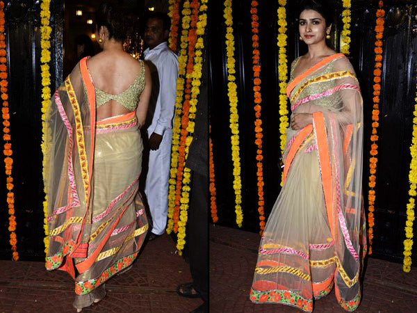 backless sarees designs