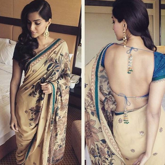 backless sarees blouse