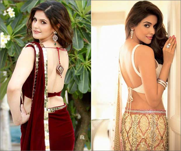 Backless sarees designs sexy sarees