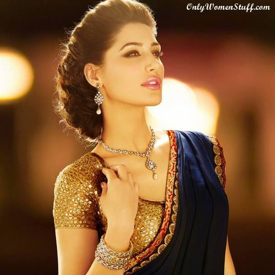 Heavy Hairstyles for Sarees