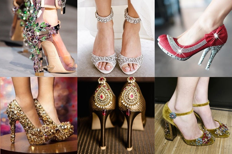 designer footwear with sarees