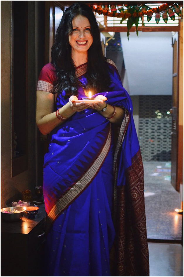 Sharell Cook in saree twit
