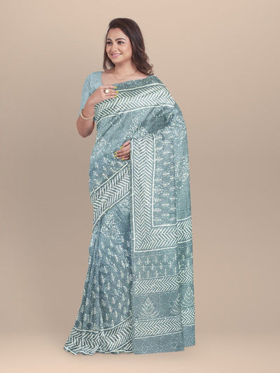 Grey Color Pure Cotton Handloom Saree