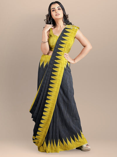 Black Color Pure Silk Sambalpuri Handloom Saree