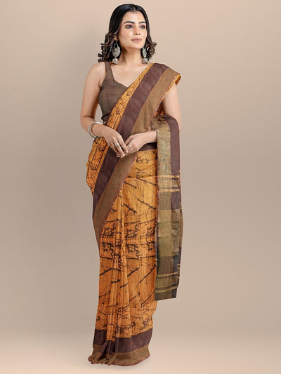 Maroon Color Pure Cotton Printed Narayan Peth Handloom Saree