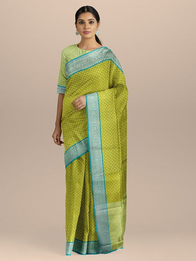 Green Color Kanjivaram Silk Saree