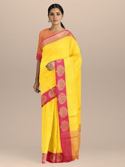 Yellow Color Kanjivaram Silk Saree