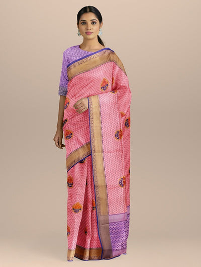 Pink Color Kanjivaram Silk Saree