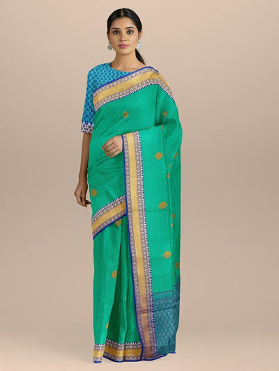 Sea Green Color Kanjivaram Silk Saree
