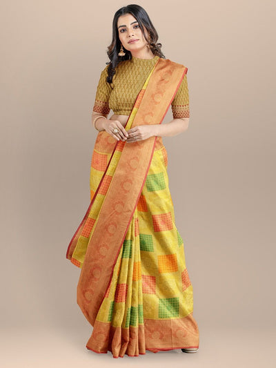 Yellow Color Gharchola Saree