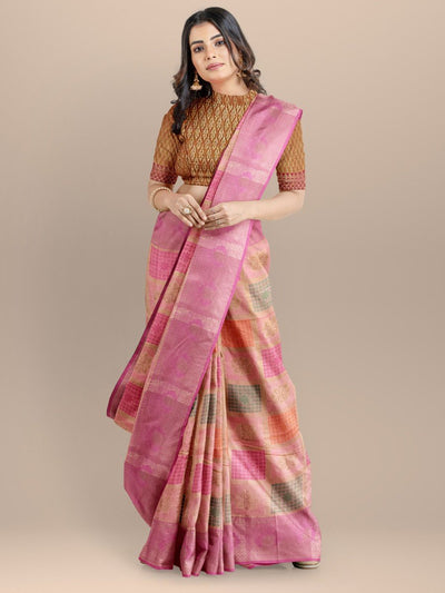 Pink Color Gharchola Saree