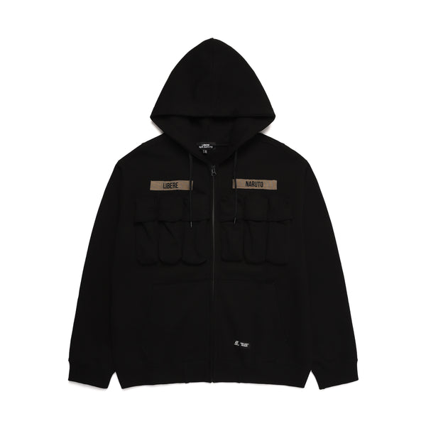 TACTIICAL ZIP-UP HOODIE / BLACK