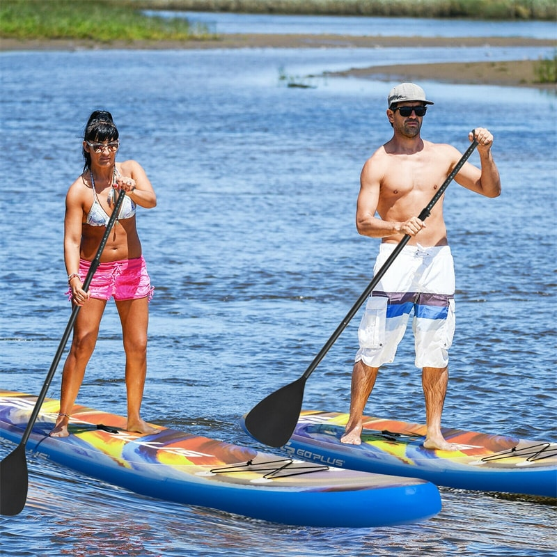 10.5' 11' Inflatable Stand Up Paddle Board with Backpack Aluminum Paddle Pump