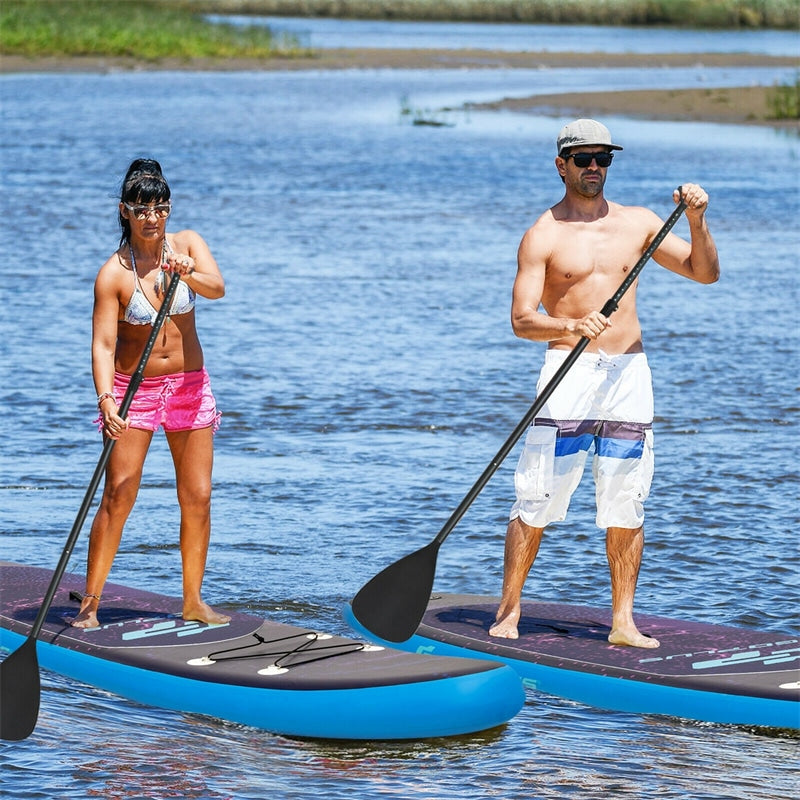 10.5' Inflatable Stand Up Paddle Board with Backpack Aluminum Paddle Pump