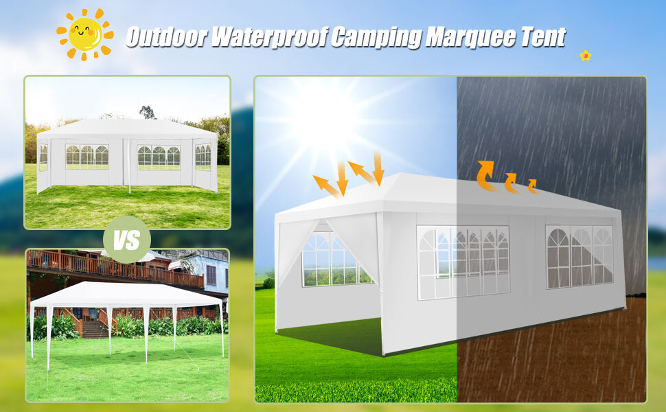 10' x 20' Outdoor Party Wedding Canopy Gazebo Pavilion Event Tent