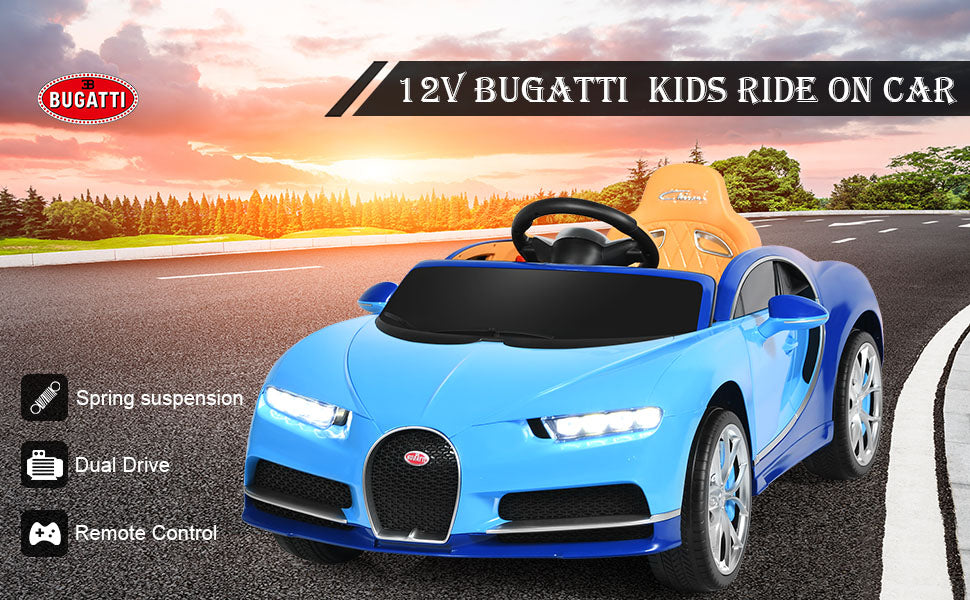 12V Licensed Bugatti Chiron Kids Electric Ride on Car with 2.4G Remote Control