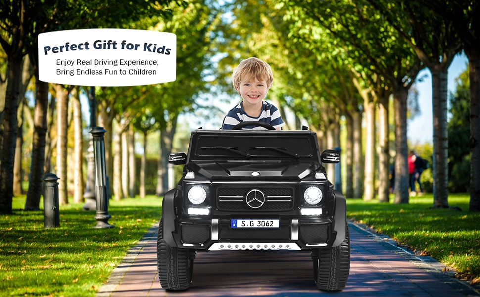 12V Licensed Mercedes-Benz Kids Powered Ride On Car Toy with 2 Motors