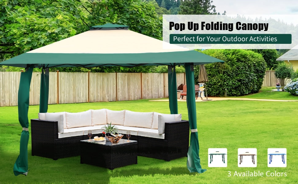 13' x 13' Outdoor Pop Up Wedding Party Canopy Tent Shelter Gazebo