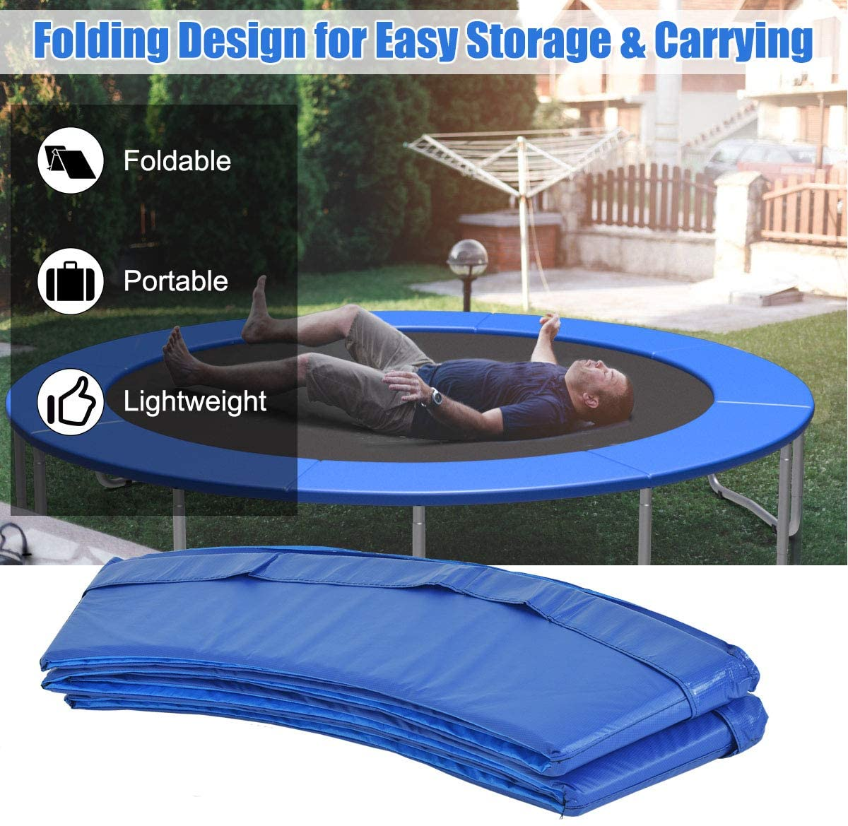 8 Ft Trampoline Replacement Safety Pad Spring Cover