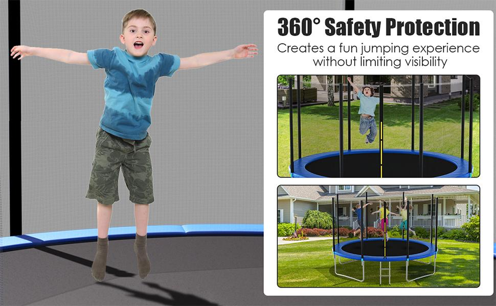 14 Ft Trampoline Replacement Safety Enclosure Net