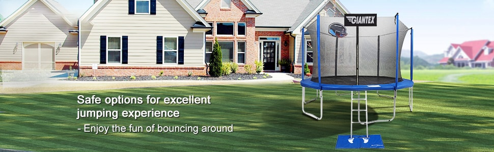 15 Ft Trampoline Combo with Enclosure Net and Basketball Hoop
