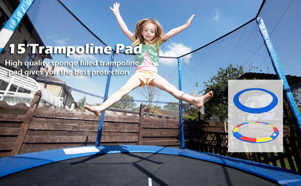 15 Ft Round Trampoline Pad Safety Frame Pad Spring Pad Replacement Cover