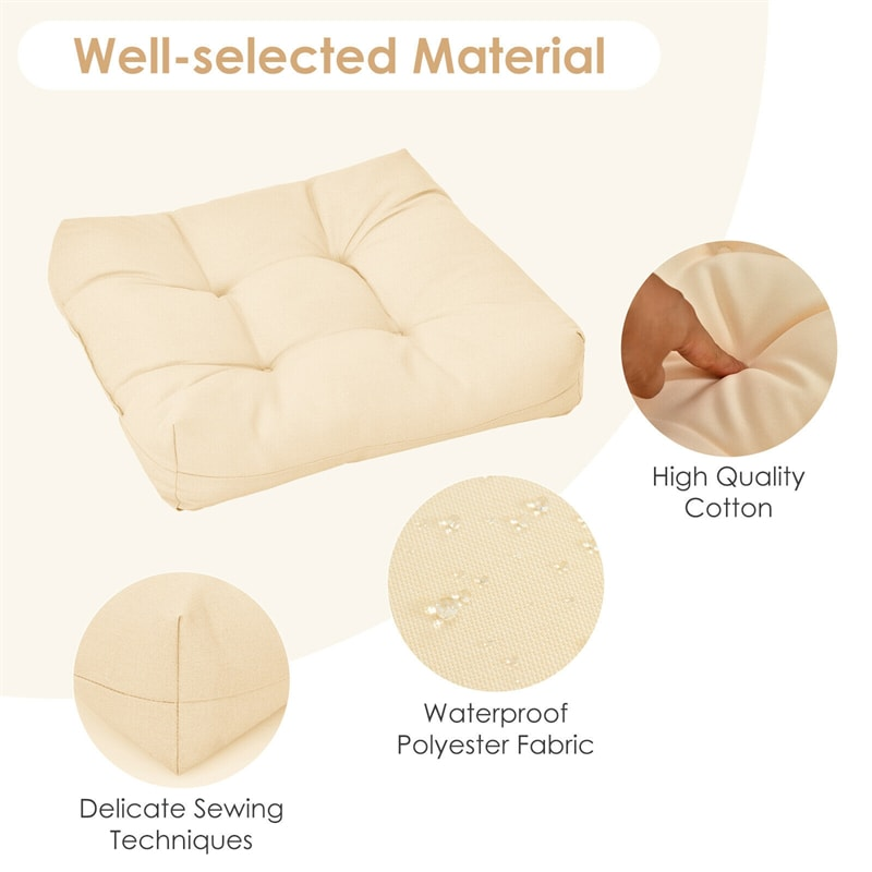 """21"""" x 21"""" Patio Chair Seat Cushion for Indoor and Outdoor"""