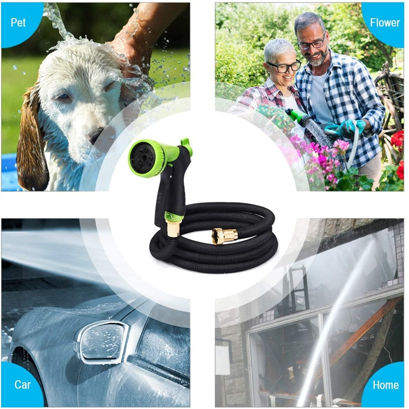 50ft Expandable Garden Hose Pipe with Spray Nozzle