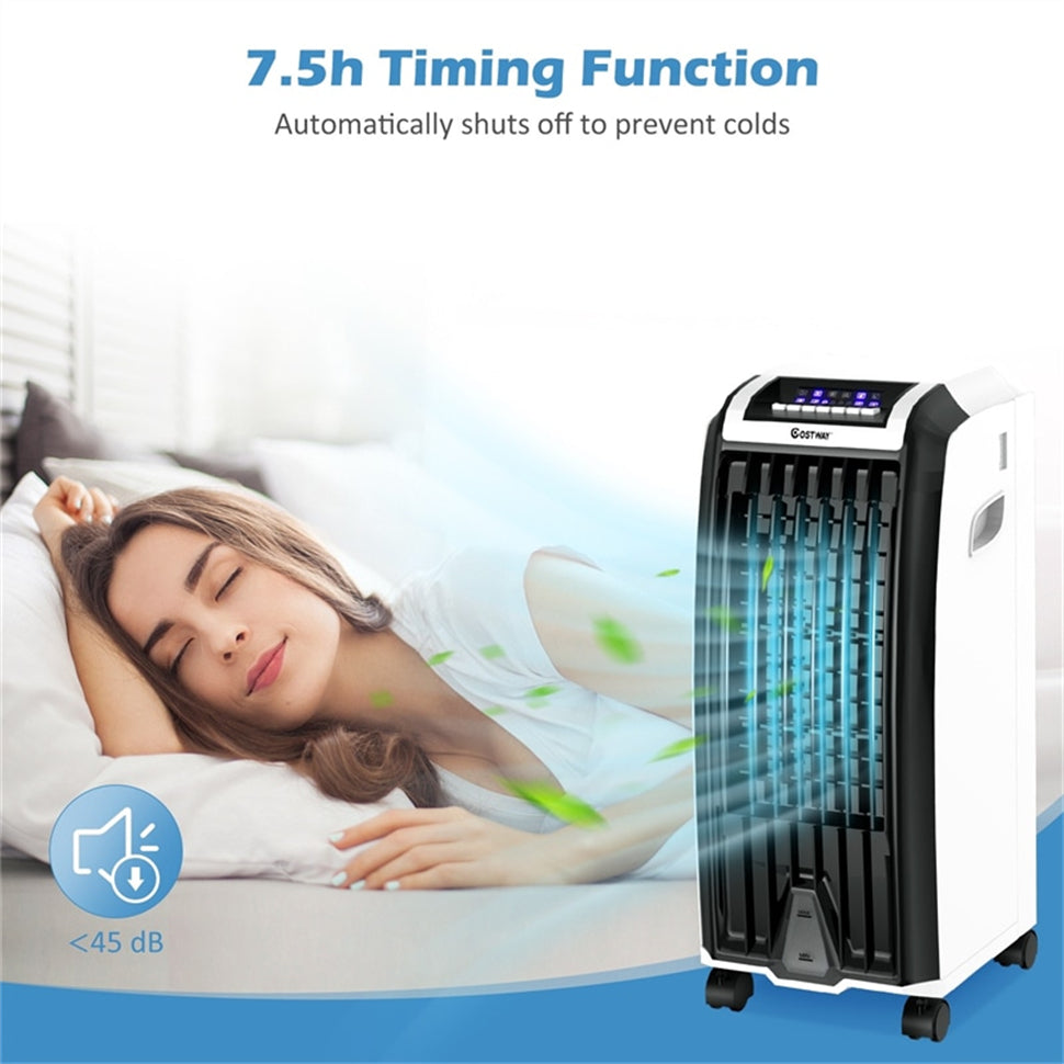 3 In 1 Portable Evaporative Air Cooler with 3 Fan Modes and Remote Control