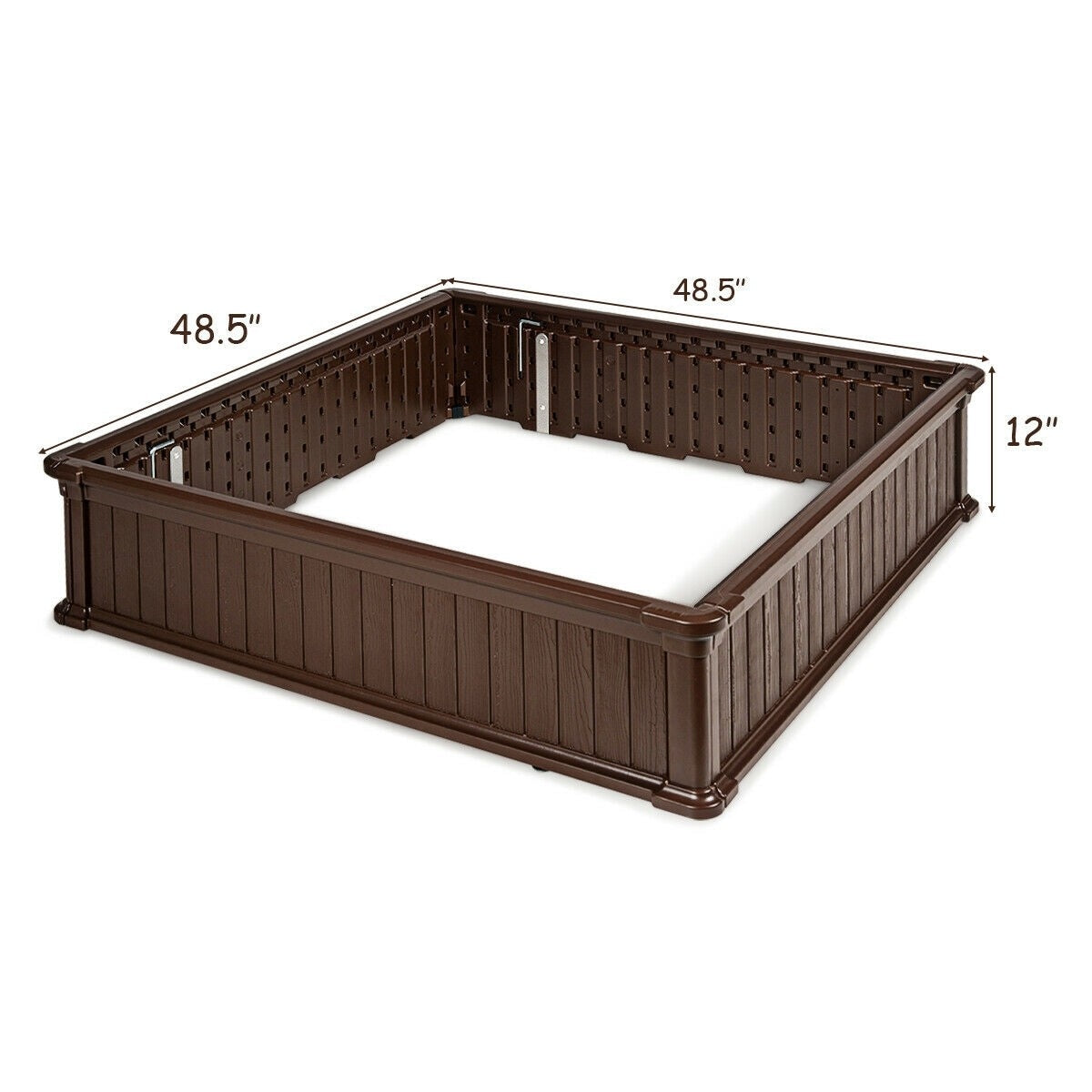 """48.5"""" L x 48.5"""" W Raised Garden Bed Outdoor Rectangle Plant Box"""
