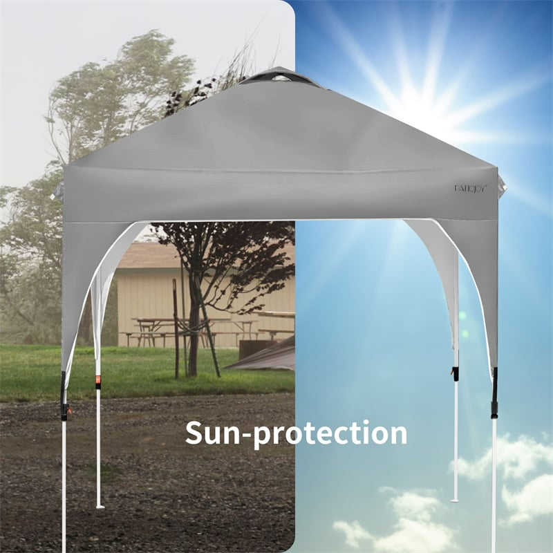 8' x 8' Outdoor Pop-up Canopy Tent Height Adjustable with Roller Bag