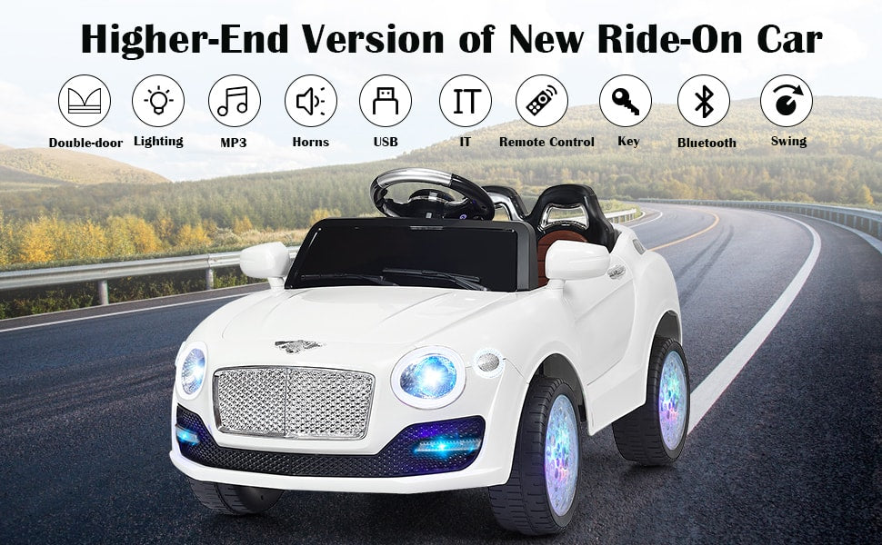 6V Kids Ride-On SUV Car Battery Powered Vehicle with Parental Remote Control