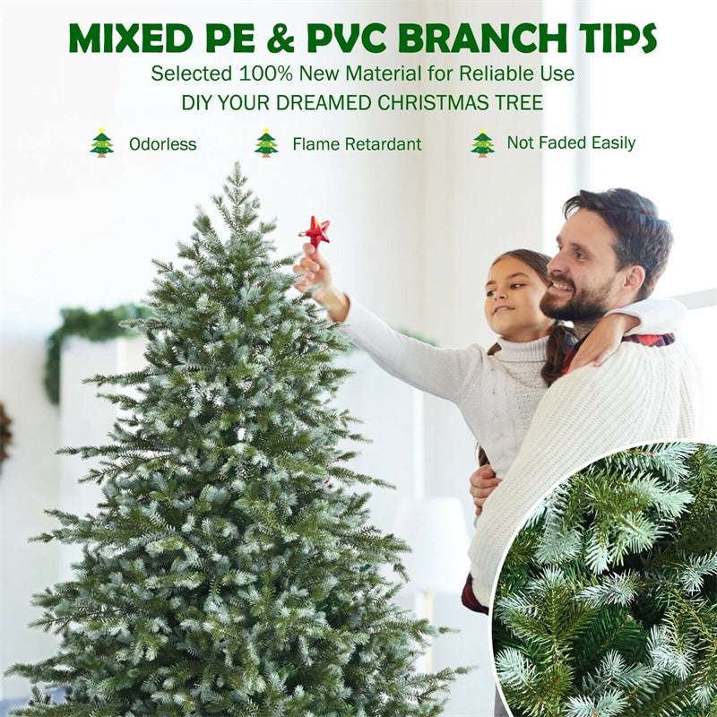 6ft Spruce Hinged Artificial Christmas Tree with Metal Stand