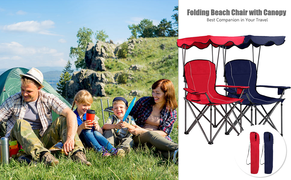 Beach chair with canopy - camping chair - Bestoutdor.com