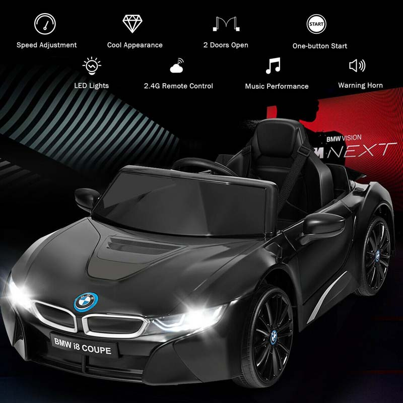 12V Kids BMW i8 Coupe Licensed Electric Ride On Car with 2.4G Remote Control