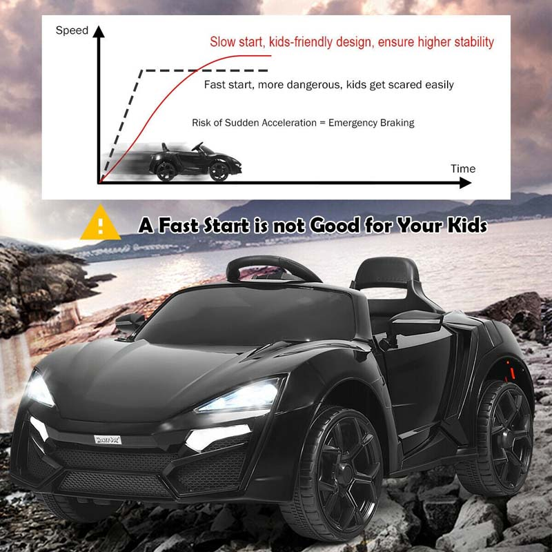12V Kids Electric Ride On Car Riding Supercar Toy with Remote Control