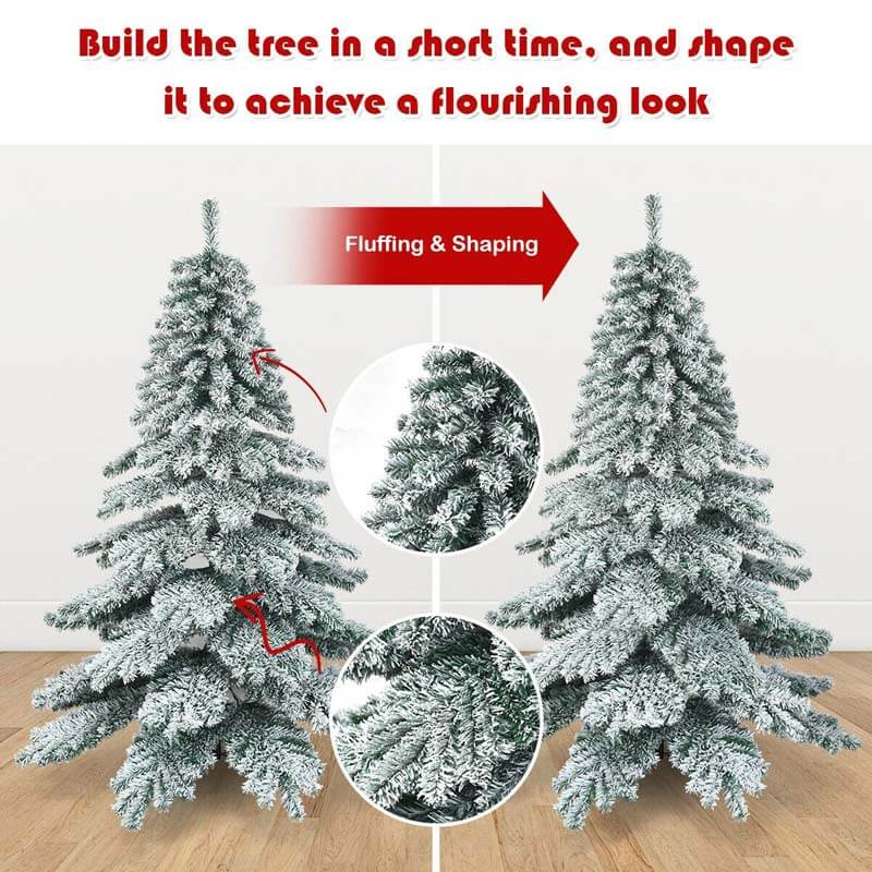 7.5 ft Snow Flocked Artificial Christmas Tree