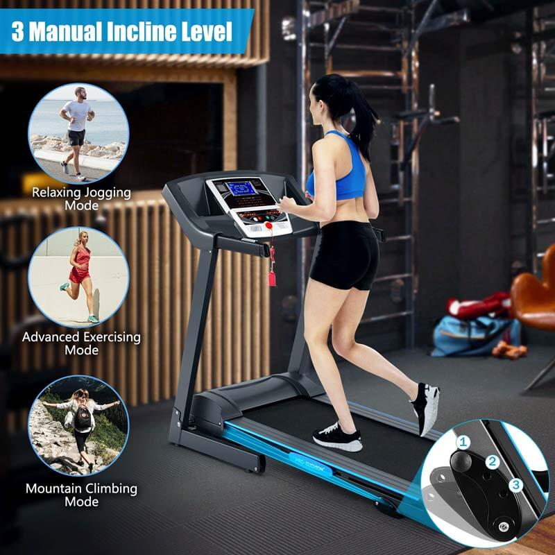 2.25 HP Folding Electric Treadmill Motorized Power Running Machine with LCD Display