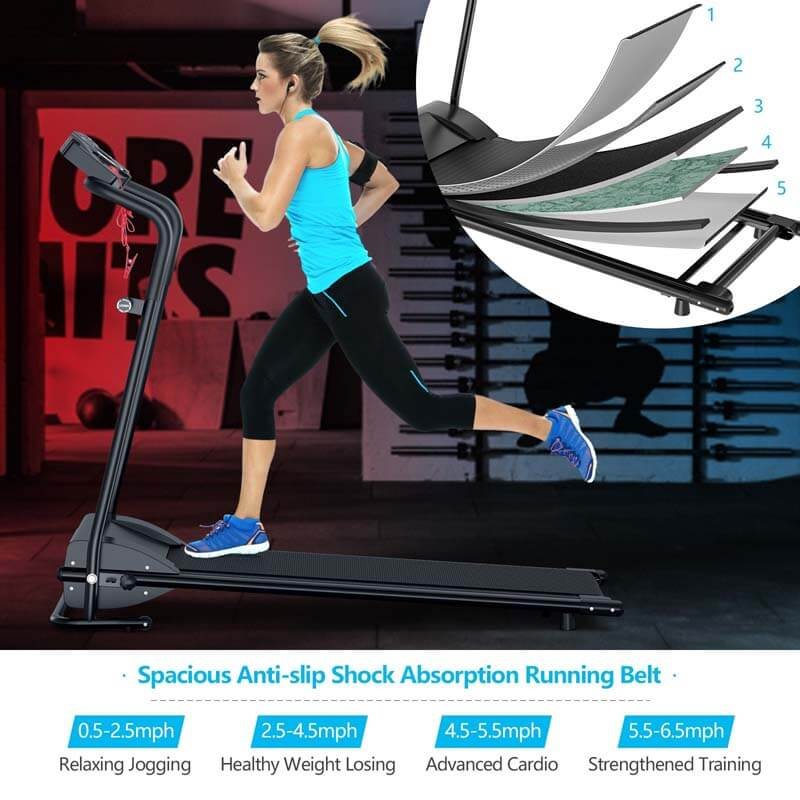 1 HP Electric Mobile Power Foldable Treadmill with Operation Display