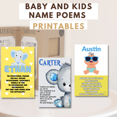 Joyfulle Baby and Kids Name Poems Printables Collection