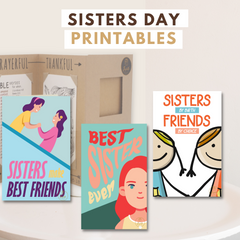 Joyfulle.com National Sisters Day Greeting Cards Printables