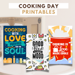Joyfulle.com Printables Cooking Day Printables Greeting Cards