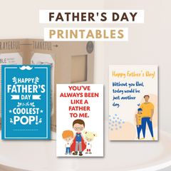 Joyfulle.com Father's Day Greeting Card Printables