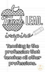 Teacher Appreciation Greeting Card 03