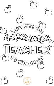 Teacher Appreciation Greeting Card 01
