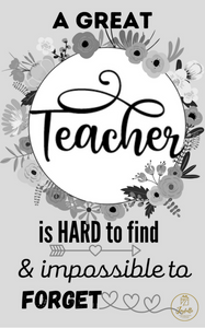 Teacher Appreciation Greeting Card 12